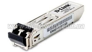 DEM-310GT - 1000BASE-LX, одномодовый оптический кабель, макс.  10 км.