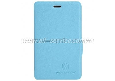 Чехол NILLKIN Nokia Asha 501 - Fresh Series Leather Case (Blue)