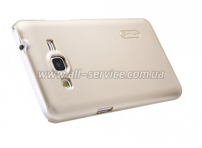 Чехол NILLKIN Samsung G530/Grand Prime- Super Frosted Shield Gold