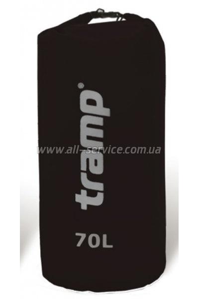 Гермомешок Tramp Nylon PVC 70 черный (TRA-104)
