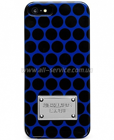 Чехол MICHAEL KORS Black Dot Case for iPhone 5/5S/SE Sapphire (MK-BLDT-SPHR)