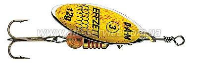 Блесна-вертушка DAM Effzett Predator 12гр (yellow/glitter) (5126012)