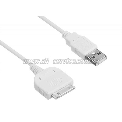 Кабель Kit USB 2.0 Apple 30pin Data White (IPUSBDATWHKT)