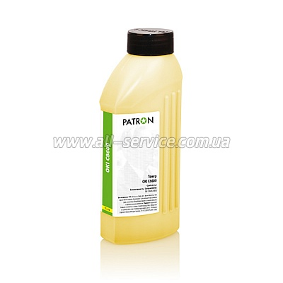 ТОНЕР OKI C8600 YELLOW ФЛАКОН 180 г PATRON