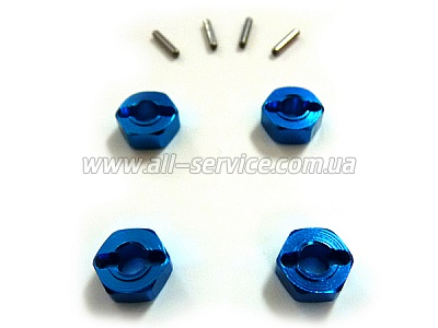 (82906) Blue Alum Wheel Hex 4P