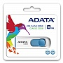 Флешка 8Gb A-DATA C008 WHITE/BLUE (AC008-8G-RWE)
