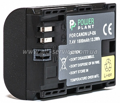 Аккумулятор PowerPlant Canon LP-E6 Chip (DV00DV1243)