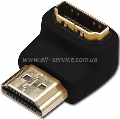Адаптер Digitus HDMI M/F right 90 (AK-330502-000-S)