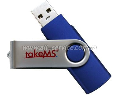 Флешка TakeMS MEM-Drive Mini Rubber 8Gb Blue (TMS8GUMIR1R01)