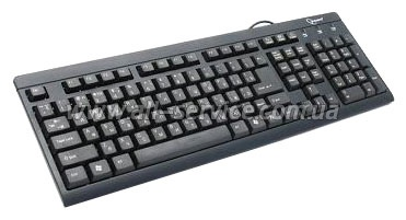 Клавиатура GEMBIRD KB-8300-BL-R Standard PS/2, black