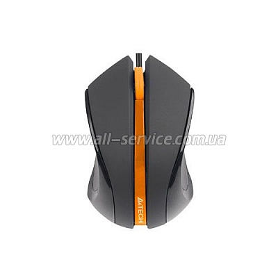 Мышь A4 N-310-1 black/orange V-TRACK USB