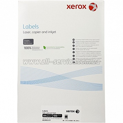 Наклейка Xerox Mono Laser 65UP (rounded) 38.1x21.2mm 100л. (003R93177)
