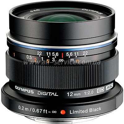 Объектив OLYMPUS EW-M1220 ED 12mm 1:2.0 Black (V311020BE001)