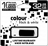 Флешка 32GB GOODRAM COLOUR Black/White RETAIL 9 (PD32GH2GRCOKWR9)