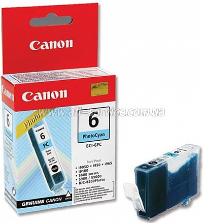 Картридж Canon BCI-6PC (Photo Cyan) iP6000D/ 8500 (4709A002)
