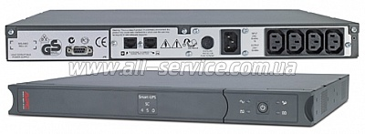 ИБП APC Smart-UPS SC 450 VA Rack/ Tower (SC450RMI1U)