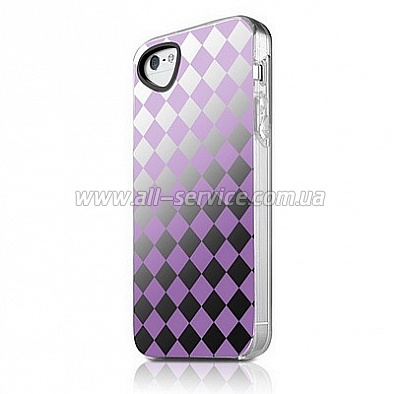 Чехол ITSKINS Killer Chic for iPhone 5/5S/SE Purple Lattice (APH5-KILCH-PRLC)