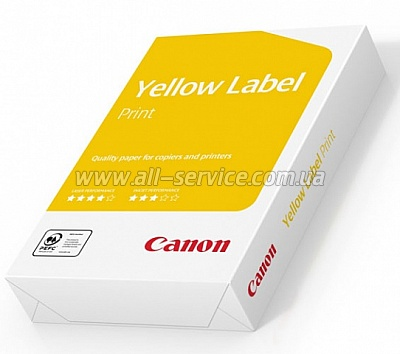 БУМАГА CANON YELLOW LABEL А4 500л (80г/м) , MONDI