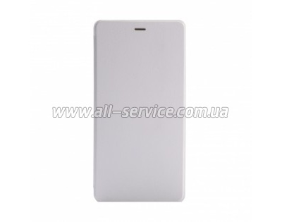 Чехол Xiaomi Flip Leather Stand Protective Cover Case Mi Note White ORIGINAL
