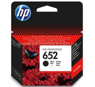 Картридж HP №652 DJ Ink Advantage 1115/ 2135/ 3635/ 3835 Black (F6V25AE)