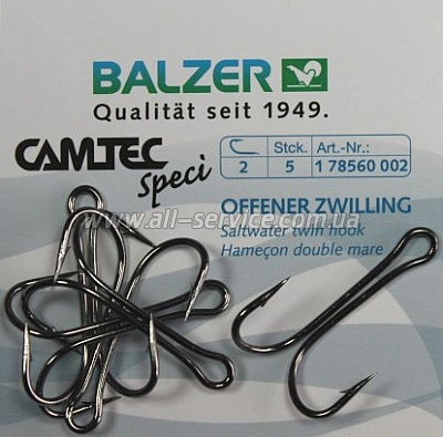 ������-������� Balzer Camtec Double One Hook �4  5��. (17856 004)