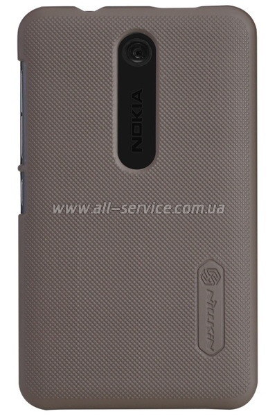 Чехол NILLKIN Nokia Asha 501 - Super Frosted Shield (Brown)