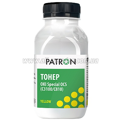 Тонер OKI OCS C3100/ C810 YELLOW ФЛАКОН 100 г PATRON