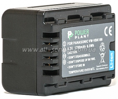 Аккумулятор PowerPlant Panasonic VW-VBK180 (DV00DV1291)