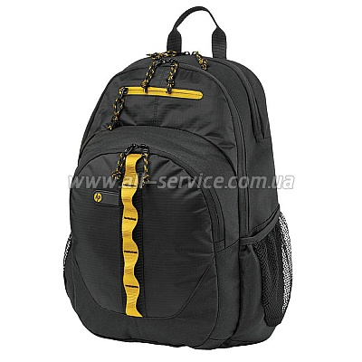 Рюкзак HP 15.6 Sport Backpack black/ yellow F3W17AA