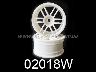 White Spoke Wheel Rims 2P