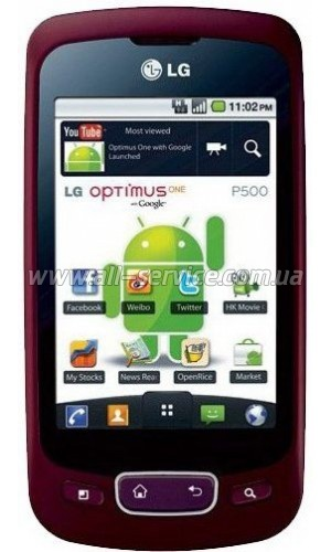 Смартфон LG P500 Optimus Metalic Wine