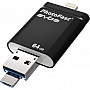 Флешка 64Gb PHOTOFAST i-Flashdrive EVO Plus Black (EVOPLUS64GBU3)