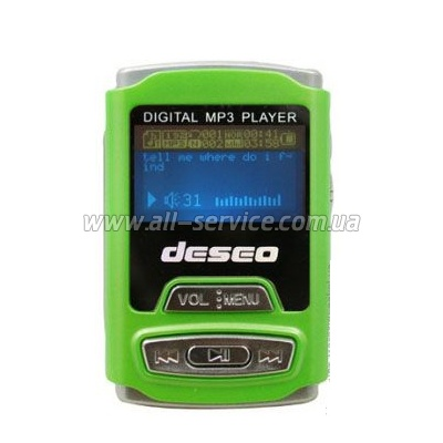 MP3 ����� TakeMS Deseo 2Gb green (TMS2GMP3-DESEO-G)