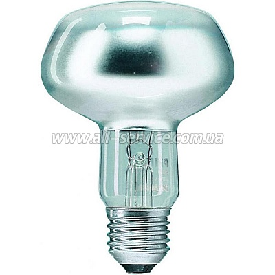 Лампа накаливания Philips E27 75W 230V NR80 25D 1CT/30 Refl (923331244220)