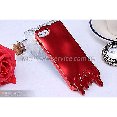 Чехол MARC JACOBS Fashion Melt Case for iPhone 5/5S/SE Red (MJ-MELT-REDD)