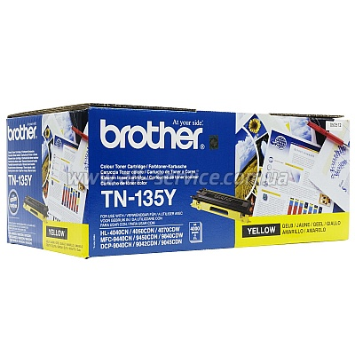 Картридж Brother для HL-40XXC, MFC-9440CN, DCP-9040CN yellow (TN135Y)