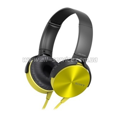 Наушники Sony eXtra Bass MDR-XB450AP Yellow (MDRXB450APY.E)