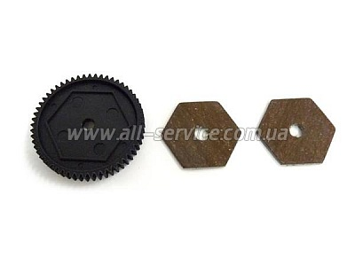 31611 Main Gear 68T and Slipperpads 1P