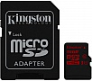 Карта памяти 16GB Kingston microSDHC Class 10 UHS-I U3 + SD адаптер (SDCA3/16GB)