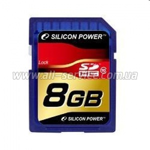 Карта памяти 8GB SILICON POWER SDHC Class 10 (SP008GBSDH010V10)