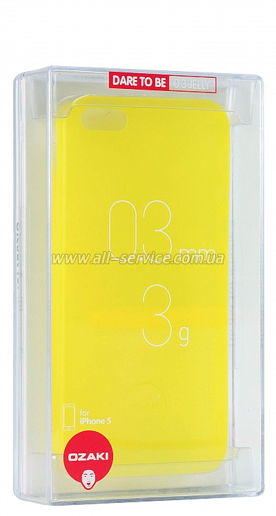 ����� OZAKI O!coat-0.3-Jelly iPhone 5/5S Yellow OC533YL
