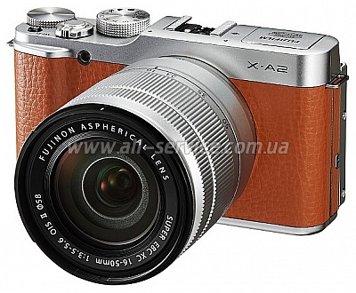 �������� ����������� Fujifilm X-A2 + XC 16-50mm Kit Brown (16455221)