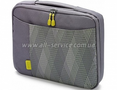 Сумка для ноутбука DICOTA Bounce SlimCase (grey/yellow) 10