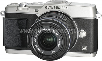 �������� ����������� OLYMPUS E-P5 14-42 mm Kit silver/black (V204051SE000)