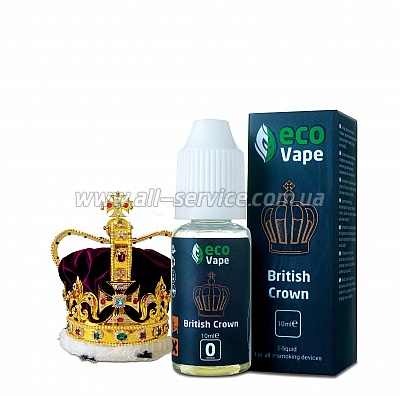 Жидкость ECO Vape British Crown 0 мг/мл