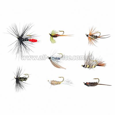 Мухи Balzer Wet Fly and Nymphs в наборе 8шт. (16800 002)