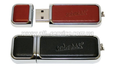 Флешка TakeMS MEM-Drive Leather 2Gb black (TMS2GULEA1R03)