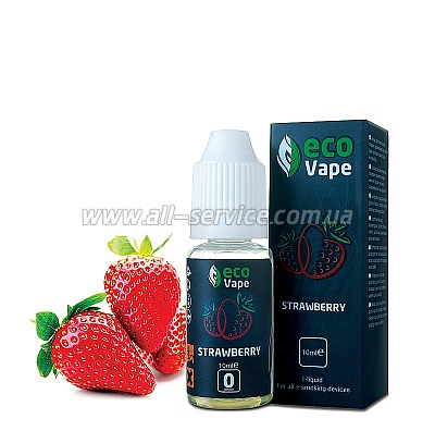 Жидкость ECO Vape Strawberries 3 мг/мл