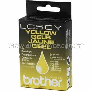 �������� Brother MFC-830/ 840/ 860 yellow LC50Y