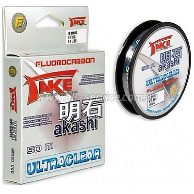 Леска Lineaeffe Take AKASHI Fluorocarbon  50м. 0.25мм  FishTest 10.00кг  Made in Japan (3042125)